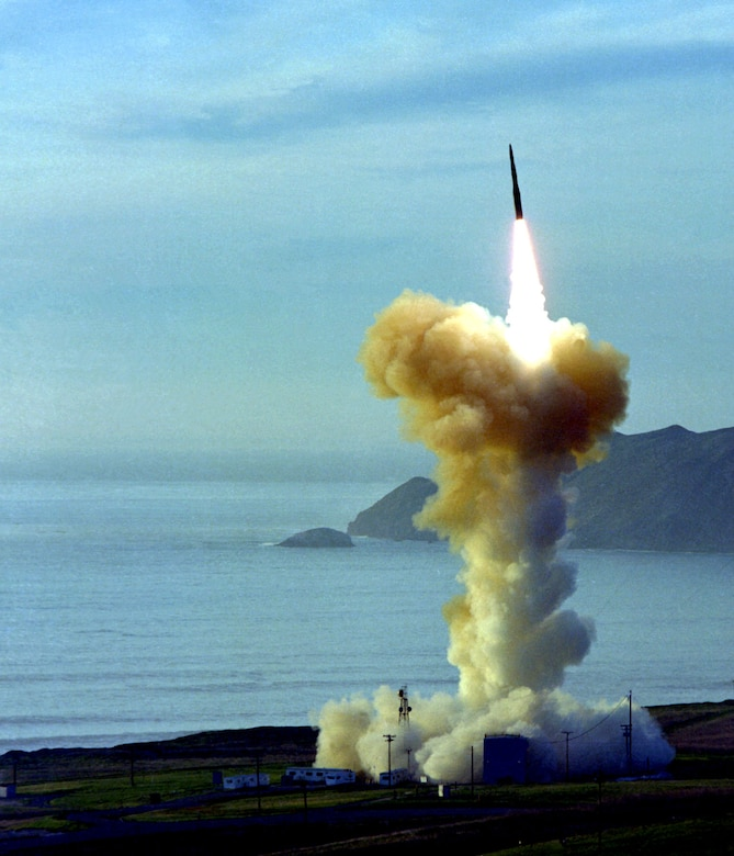 missile leaving launch pad